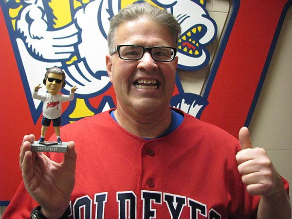 Goldeyes Honour Hometown Hero Dancing Gabe