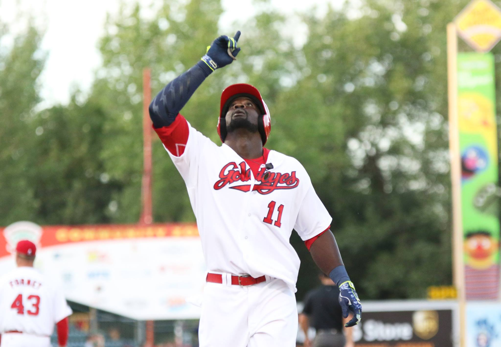 Abercrombie Breaks Home Run Record In Goldeyes Win