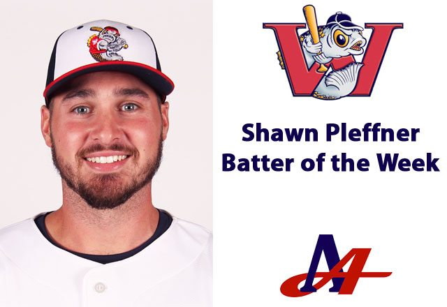 Pleffner is American Association's First Batter of the Week for 2017