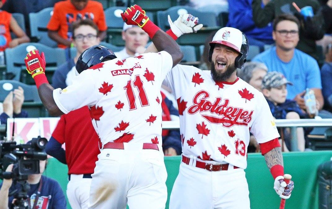 Goldeyes Ride Monster First Inning to Win
