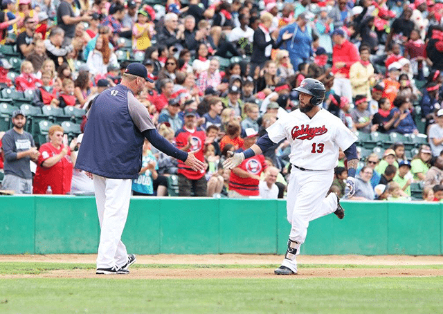 Goldeyes Homer Five Times to Sweep Saints