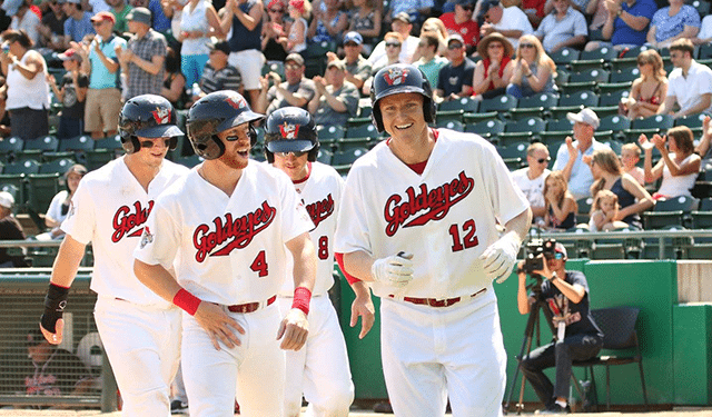 Goldeyes Ride Eight-Run Fourth Inning Over RedHawks
