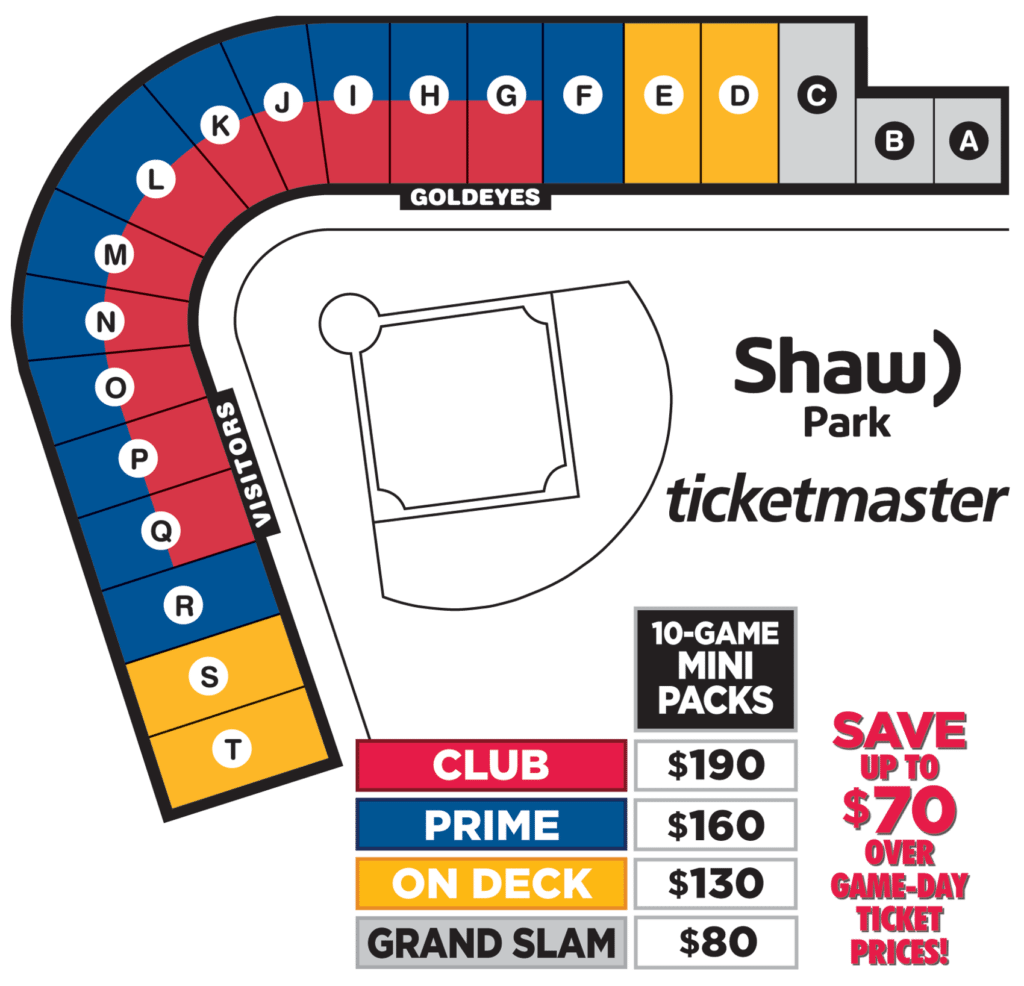 2018 Mini Pack Seating Map and Pricing