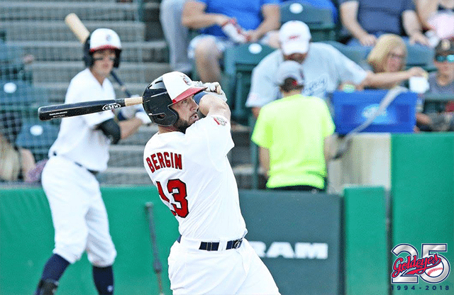 Star Slugger Bergin Returns to Goldeyes