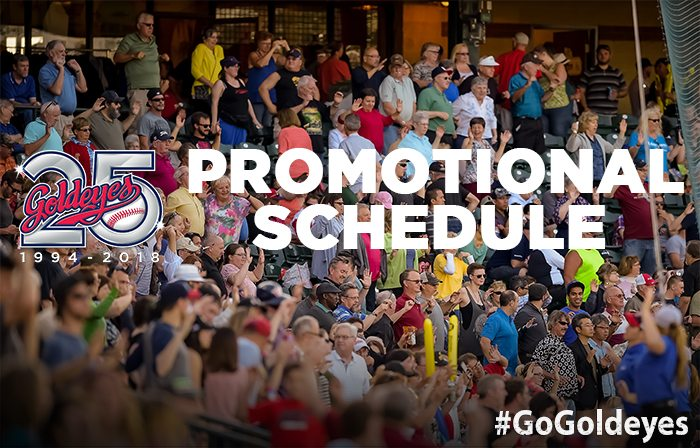 Goldeyes 2018 Promotional Schedule: Phase 1