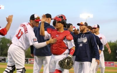 Goldeyes Rally Late to Top RailCats