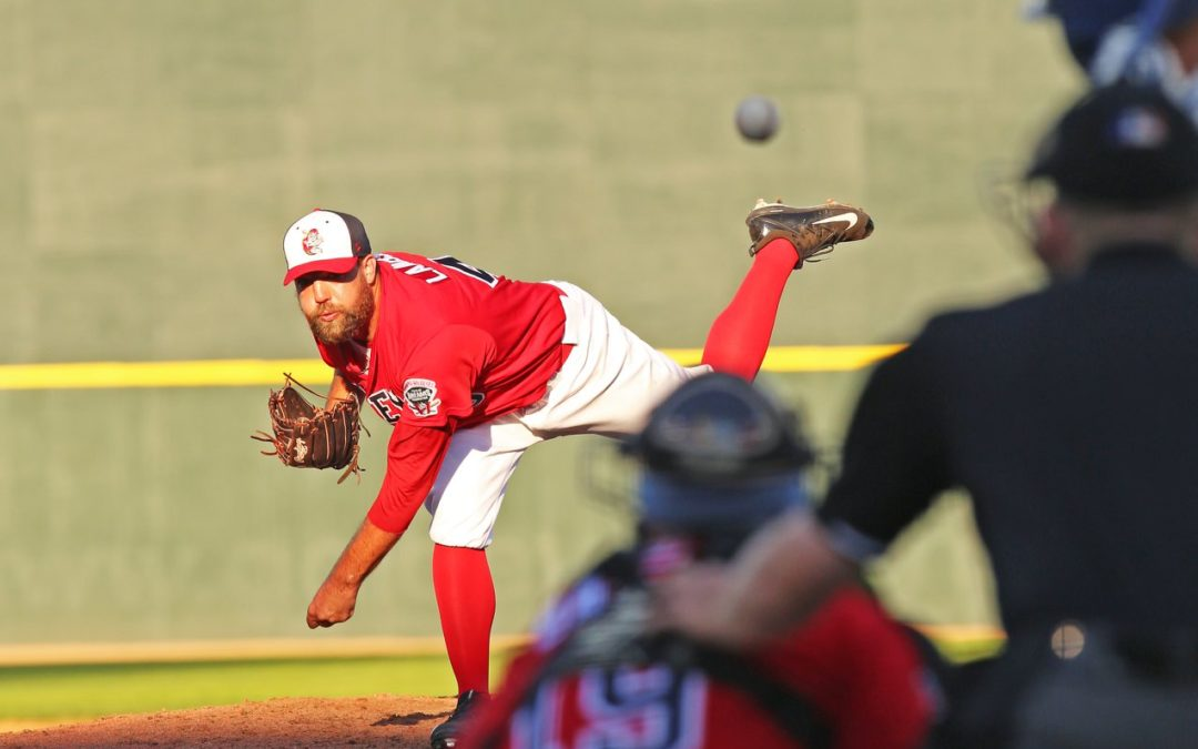 Lambson Throws Two-Hit Shutout Over Canaries