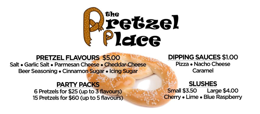 The Pretzel Place Menu 2019