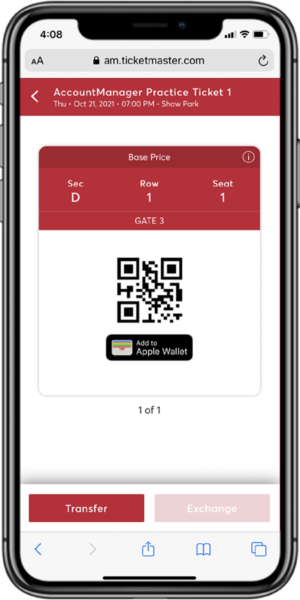 Access Your Tickets - Step 4