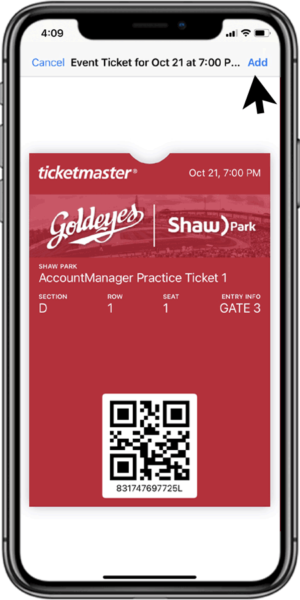 Access Your Tickets - Step 7