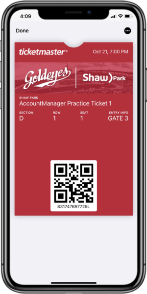 Access Your Tickets - Step 8