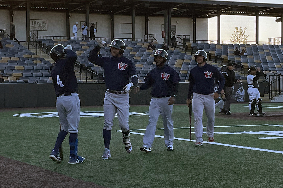 Hill Blast, Strong Pitching Lead Goldeyes in Exhibition