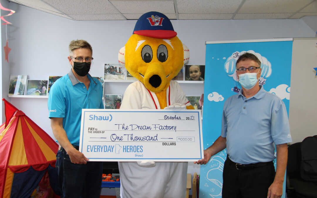 Winnipeg Goldeyes and Shaw Communications Recognize The Dream Factory as Everyday Heroes in New Initiative
